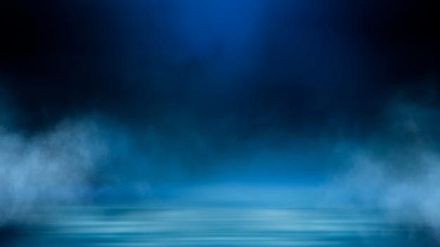 暗闇の中でネオンの光線