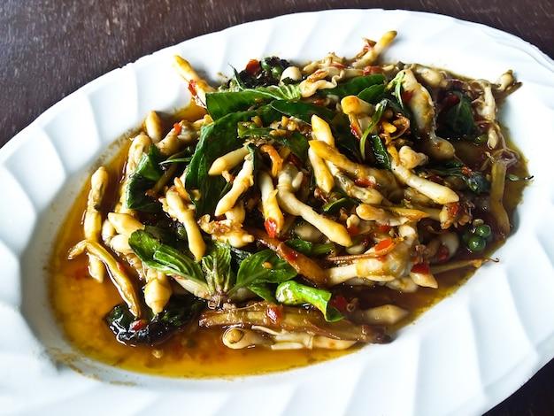 Razor clams spicy stir-fry ,thai food