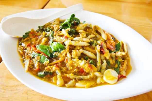 Razor clams spicy stir-fry