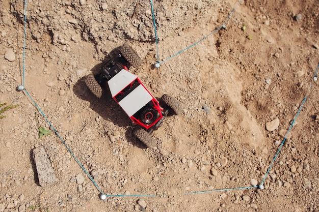 Rc suv riding offroad rally