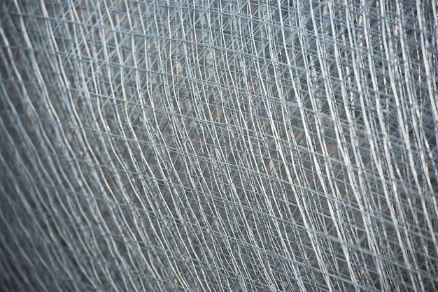 철근 금속 격자. 추상 강철 디자인