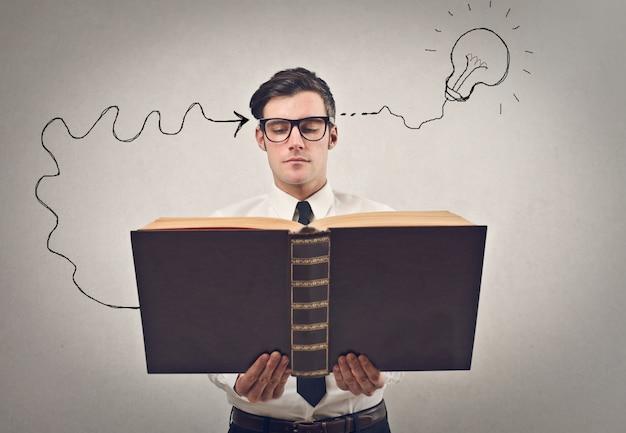 Reading and having an idea
