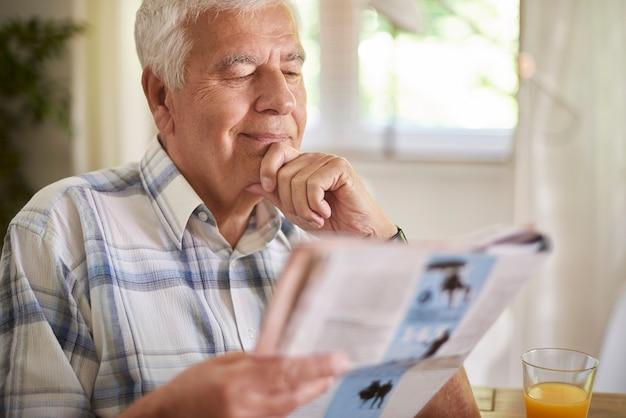 朝食後の読書は私の日常です
