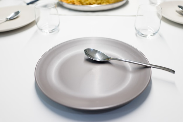 Ready food on table at home
