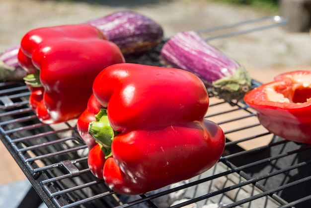 Real bbq of vegetables bio