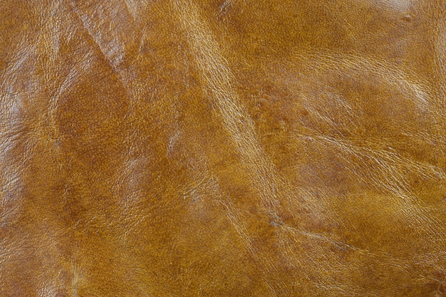 Real brown leather background.