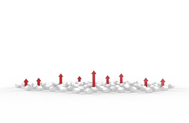 赤い矢印で不動産事業の成長