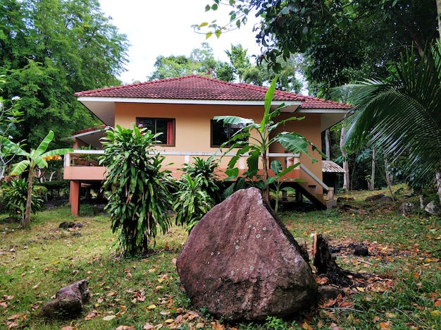 Real estate in on the island of koh samui in thailand.