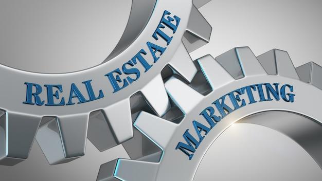 Real estate marketing background