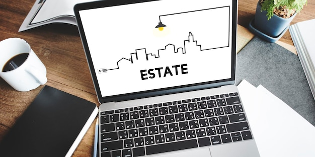 Real estate property and investment concept