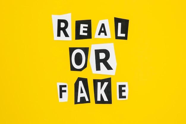 Reale del concetto di social media di notizie false