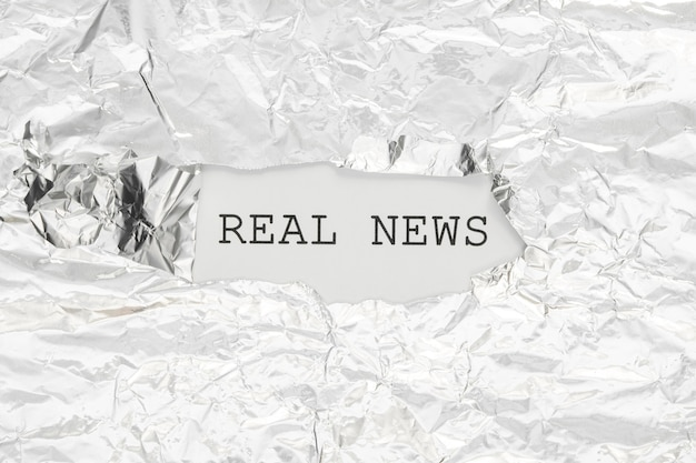 Real news hidden in crumpled paper