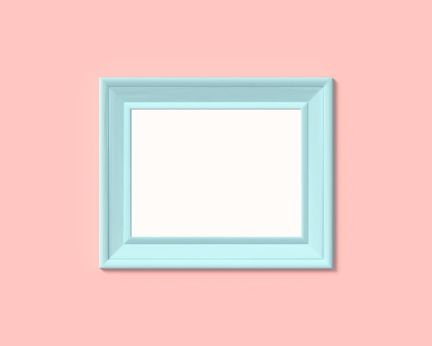 Realisitc paper, wooden or plastic blue blank for photographs