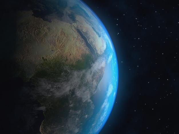 Realistic 3d earth globe