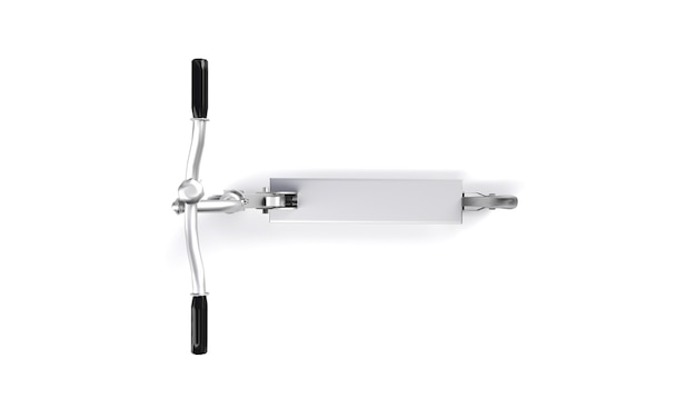 흰색 배경에 스쿠터의 현실적인 3d 렌더링