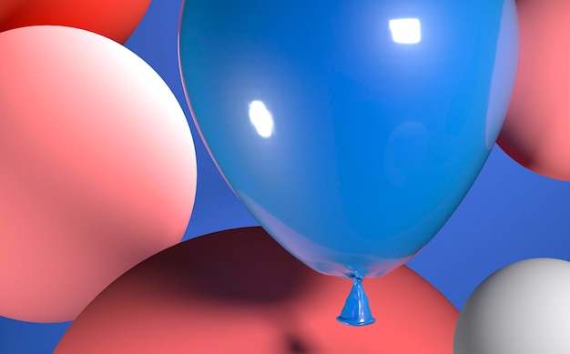 Реалистичная композиция из воздушных шаров