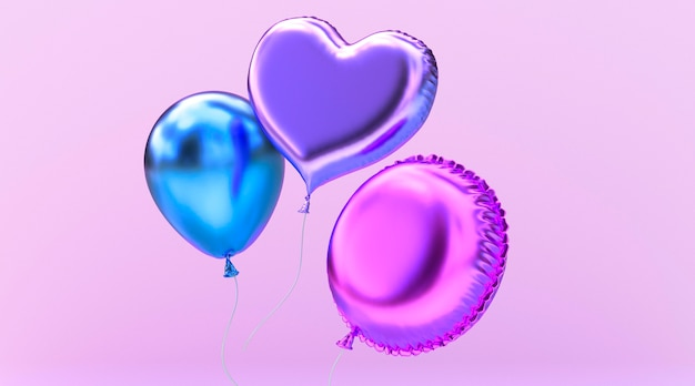Realistic balloons arrangement