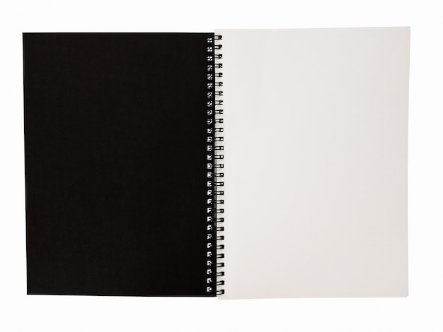 Realistic blank notebook template for cover design school business diary