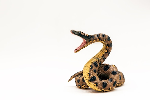 플라스틱으로 만든 현실적인 보아 뱀 장난감