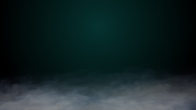 Realistic clouds smoke fog dry ice on the ground halloween background