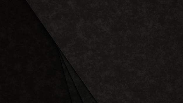 현실적인 어두운 종이 컷 배경. 레이어와 질감 추상 종이 포스터. 지형 구호 모방.