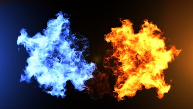 Реалистичный огонь и ледяные облака