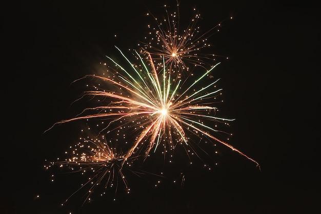 Realistic fireworks background