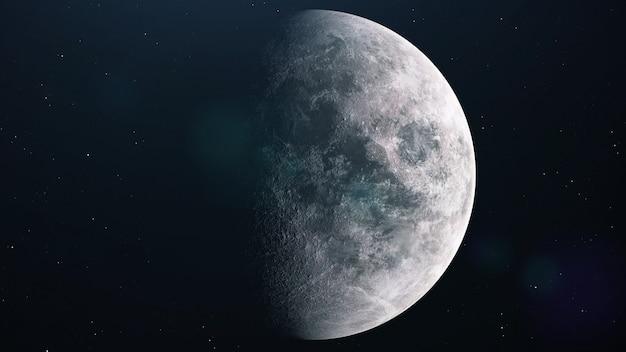 현실적인 보름달