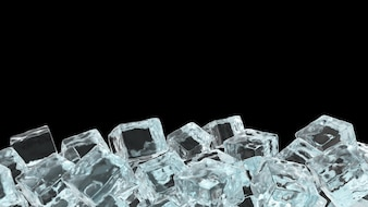 Realistic Ice Cube background