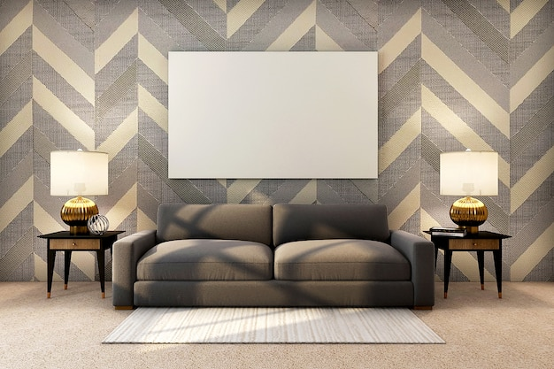 Realistic,luxury golden interior