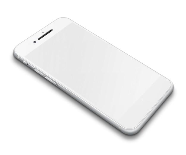 Реалистичный смартфон с сенсорным экраном мобильного телефона с пустым экраном с изолированными тенями