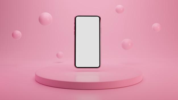 Реалистичный макет смартфона Premium Фотографии