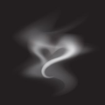 Realistic smoke heart illustration