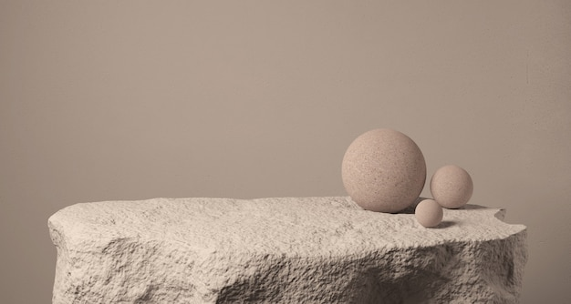 Realistic stone podium