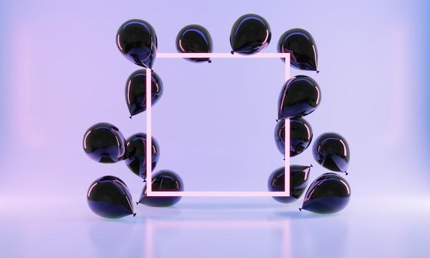 3dレンダリングのリアルなスタイルのバルーン
