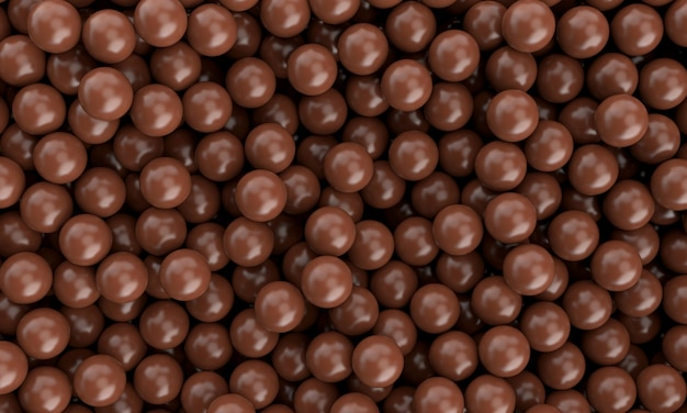 Realistic sweet delicious chocolate milk sphere ball smooth