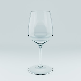 空の透明なガラスのリアルなテンプレート。 3dイラスト。