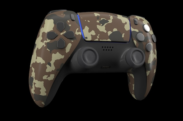 Realistic video game controller isolated on black with clipping path