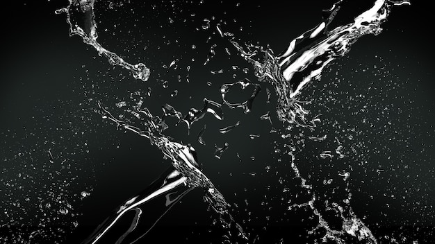 Realistic water splash background