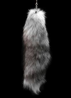 黒の動物の毛皮の後端