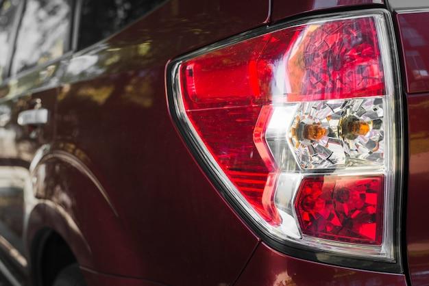 Rear light on vinous automobile