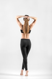 Rear view of fit woman