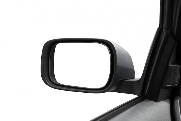 Rearview mirror in white