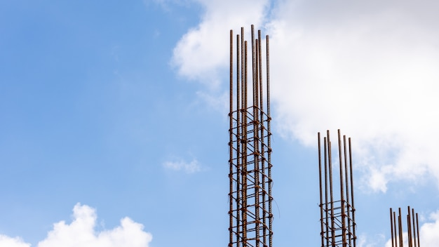 Rebar for the construction of a building
