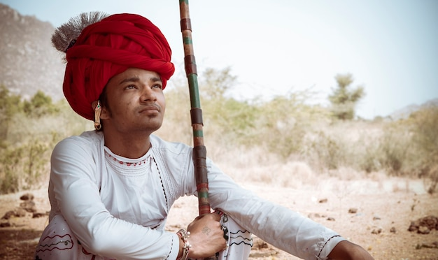 Rebari, rural people of rajasthan, india