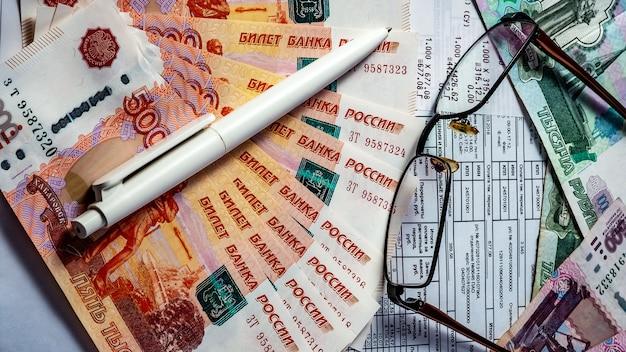 Receipt and money, utilities