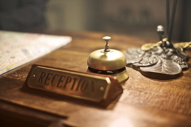 Reception desk in a hotel