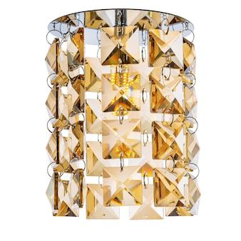 金色の半透明のミラーガラスで作られたペンダント付きの埋め込み式ledランプ