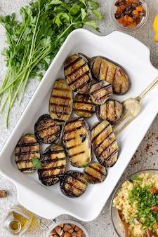 Рецепт приготовления вегетарианских баклажанов гриль