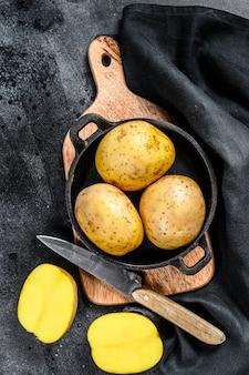 Рецепт жареного картофеля, органического желтого картофеля на сковороде